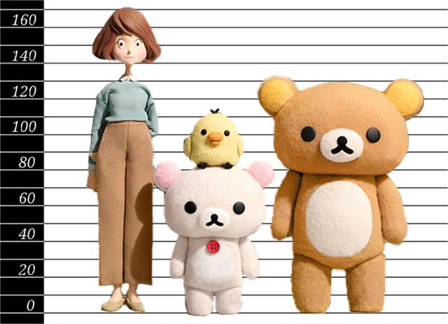 リラックマとカオルさん人形サイズ比較